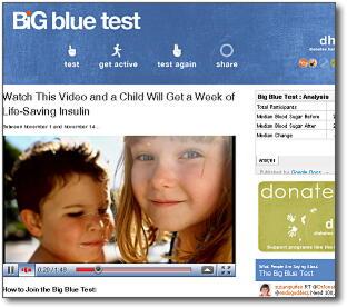 世界糖尿病デー「ビック・ブルー・テスト」